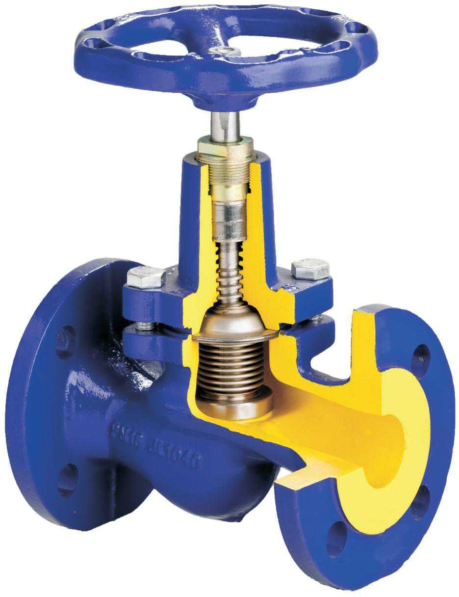 клапана запорные для трубопроводов
